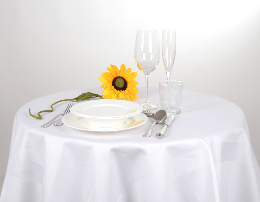 TABLECLOTH WITH SATIN BANDS